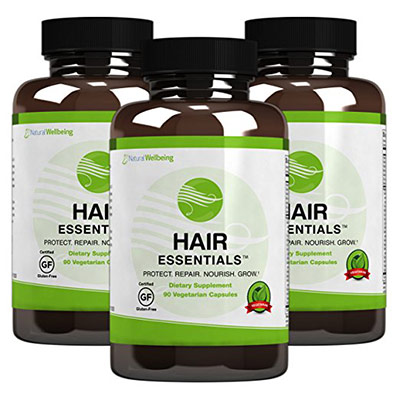 Hair Essentials Natural Herbs and Vitamins (3 bottles)