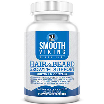 Hair and Beard Growth Vitamins for Men by Smooth Viking