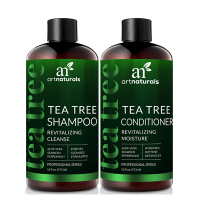 Tea Tree Oil Shampoo and Conditioner Set byArt Naturals