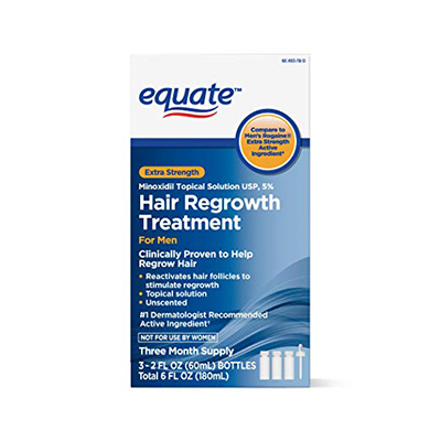 Equate Hair Regrowth Treatment for Men with Minoxidil 5% Extra Strength