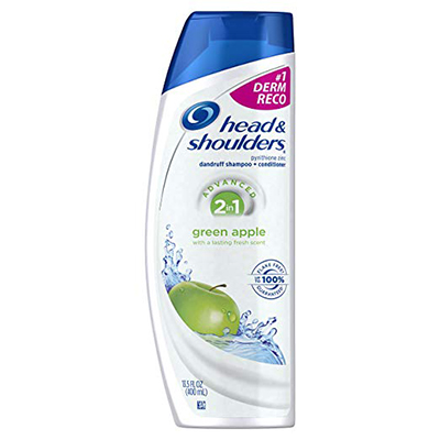 Head & Shoulders, Green Apple, 2-In-1, Anti-Dandruff Shampoo