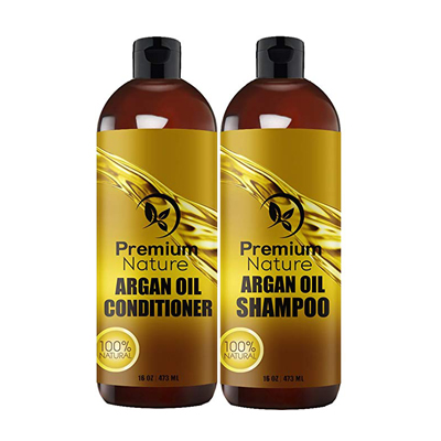Premium Nature Argan Oil Shampoo and Conditioner Set