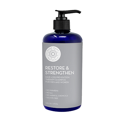 Pure Body Naturals Hair Loss Shampoo to Restore and Strengthen