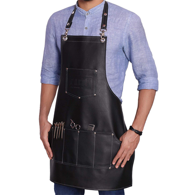 Facón Professional Leather Hair Cutting Hairdressing Barber Apron
