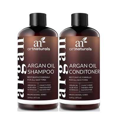 Art Naturals Organic Moroccan Argan Oil Shampoo & Conditioner
