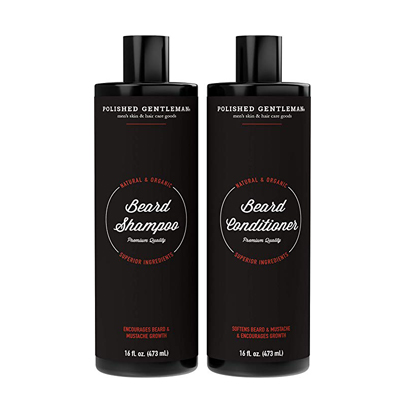Polished Gentlemen Organic Beard Growth Shampoo and Conditioner Set