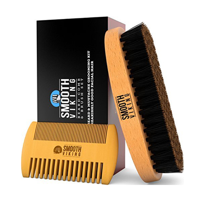 Beard and Mustache Brush and Comb