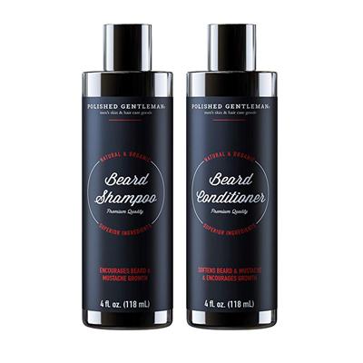 Polished Gentleman Beard Growth Shampoo and Conditioner