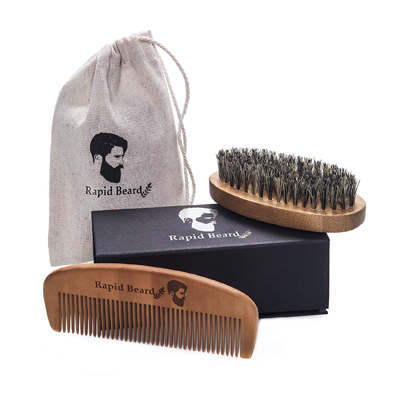 Rapid Beard Brush and Comb