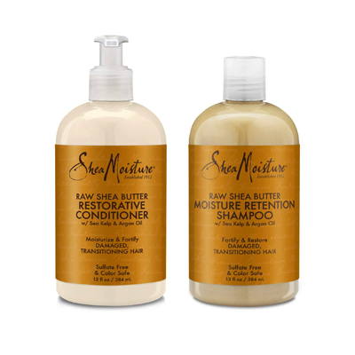 Shea Moisture Raw Shea Butter Restorative Shampoo and Conditioner Bundle