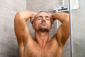 Showering in the Morning