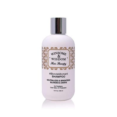 Winsome & Wisdom BlondeMoment Purple Shampoo for Blonde Hair