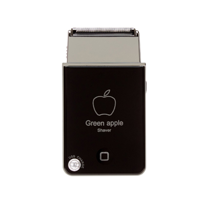 Green Apple Shaver Shavetech USB Rechargeable Travel Razor
