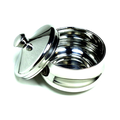 Schöne Stainless Steel Shaving Bowl with Lid