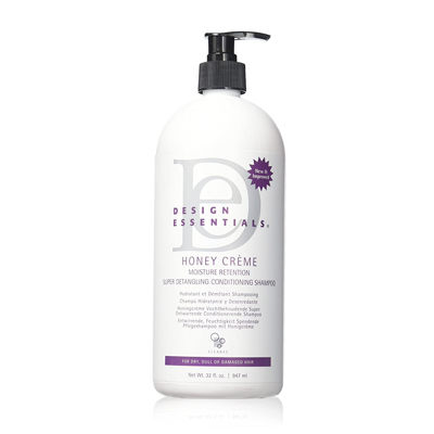Design Essentials Honey Creme Moisture Retention Super Detangling Conditioning Shampoo