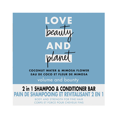 Love Beauty and Planet Volume and Bounty 2 in 1 Shampoo and Conditioner Bar