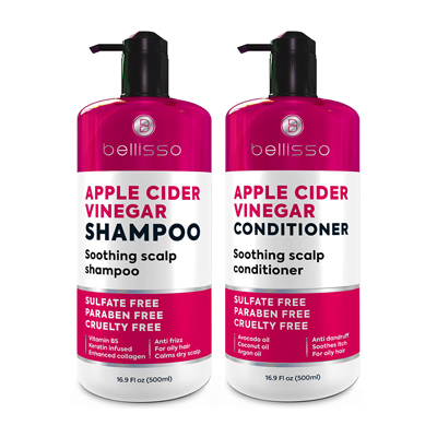 Bellisso Apple Cider Vinegar Soothing Scalp Shampoo and Conditioner