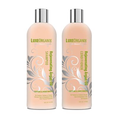 LuxeOrganix Rejuvenating Argan Oil Shampoo and Conditioner Set